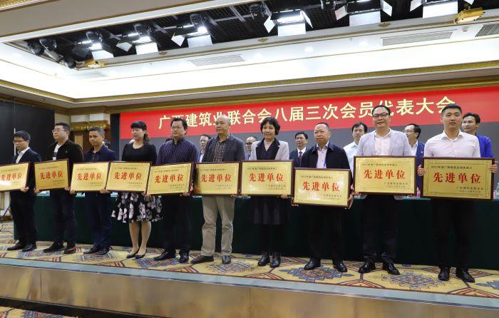 公司副总经理周兴耀代表公司上台领取牌匾。李立云 摄.jpg