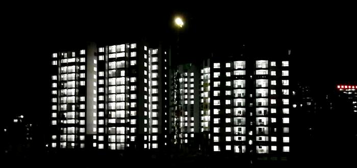 东兰县移民安置小区(EPC)项目夜景。李乐 摄.png