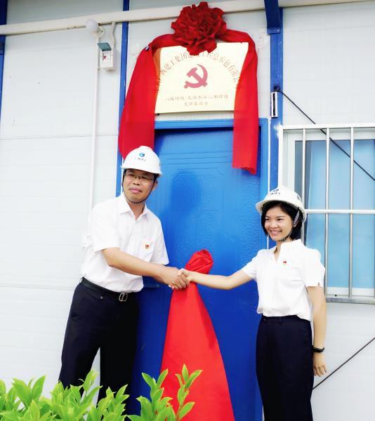 4.1陈祖训为项目党支部成立揭牌。谢微旋 摄700.JPG
