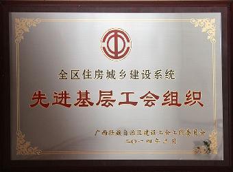 2013年全区筑建系统先进基层工会